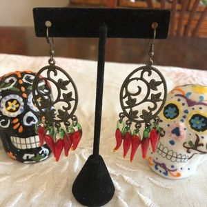 Pepper Earrings dangle vintage